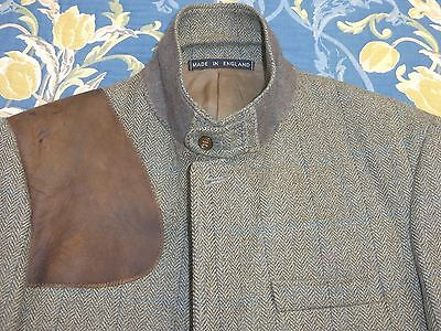 Christopher Dawes Cheviot Tweed Vintage Norfolk Shooting Jacket Blazer Coat 38 R
