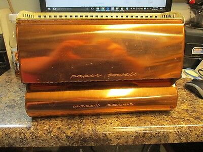 Vintage Copper Lincoln Beautyware Paper Towel & Waxed Paper Dispenser Free Ship