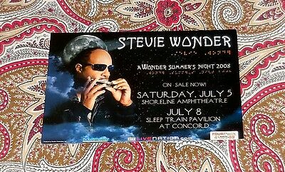 Stevie Wonder - A Wonder Summer's Night 2008 Handbill!  Two Sided!  Look!
