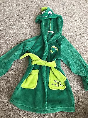 Boys Blue Zoo Dinosaur Dressing Gown 12-18 Months