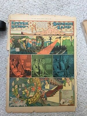 Wonderful Little Nemo In Slumberland Comic Page From June 1906 Good Condition.