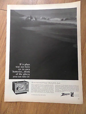 1965 Zenith Television Ad Battery Operated The New Transistorized Voyager