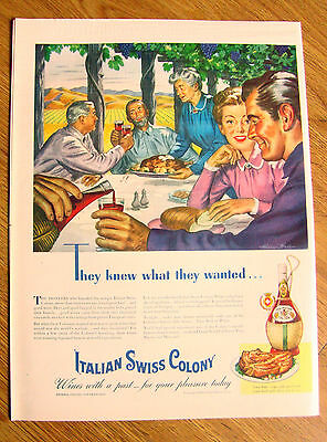 1945 Italian Swiss Colony Wine Ad 1945 Red Cross Shoes Ad American Airlines