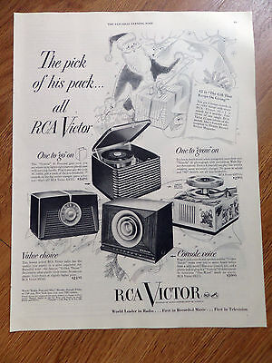 1950 RCA Victor 45 Phonographs Radio Speaker Ad