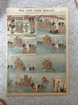 Wonderful Little Nemo In Slumberland Comic Page From May 1907 Very Good Conditio