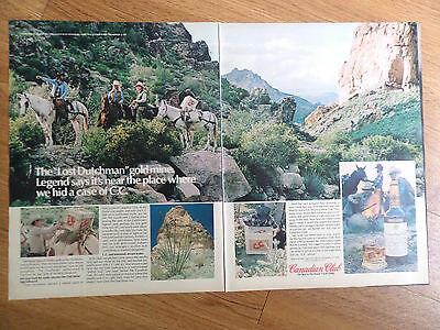 1978 Canadian Club Whiskey Ad Hid Case of CC Lost Dutchman Goldmine Arizona