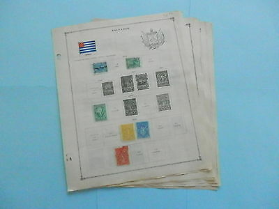 El Salvador Excellent Old Collection 1867-1940 On Page Dr Schultz Estate !!9063E