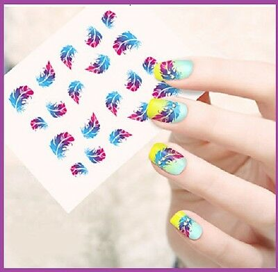 Planche de 20 stickers water decal pour ongles - Nail Art