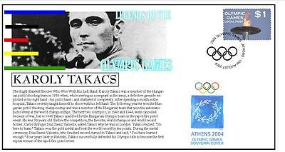 Olympic Games Legends Cover, Karoly Takacs Shooting