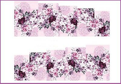 Planche stickers water decal pour ongles -Nail Art