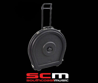 "Premium 22"" Cymbal Safe Case Caddy Heavy Duty Abs - Wheels & Retractable Handle"