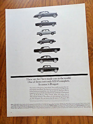 1962 Peugeot Ad 7 Best Made Cars in the World