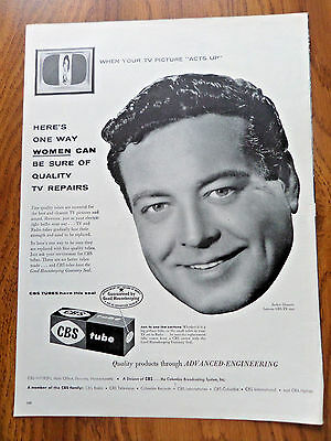 1955 CBS Tube Ad Hollywood Movie Star Jackie Gleason