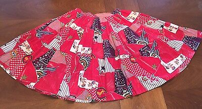 Square Dance Ladies Red 4th July Skirt - Medium/ Small