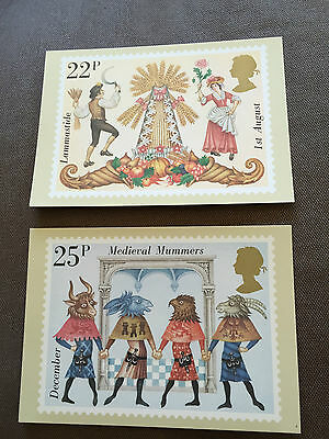"Set Of 2 Royal Mail ""folklore"" Stamp Phq Postcards"
