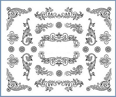 Planche stickers water decal pour ongles 6.3X5.2cm - Nail Art
