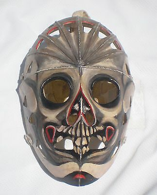 Vintage Custom Skull Painted Hockey Goalie Face Mask Helmet Stunning Must Have!