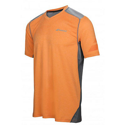 Tee Shirt Babolat Peformance V Neck Orange  / Gris - 40 % !