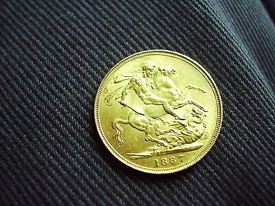 Queen Victoria 1887 Gold Sovereign