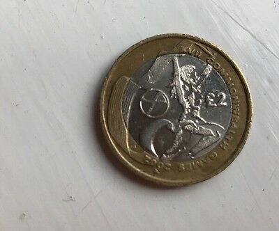 Commonwealth games £2 Two Pound Coin 2002 Scottish Flag - Scotland - Circulated