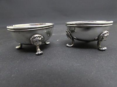 Victorian Pair Of Solid Silver Salts Cauldrons George Adams London 1873/74