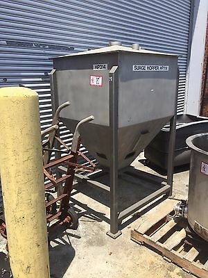 Stainless Steel Hopper Approx. 284 Gallons Very Good Condition