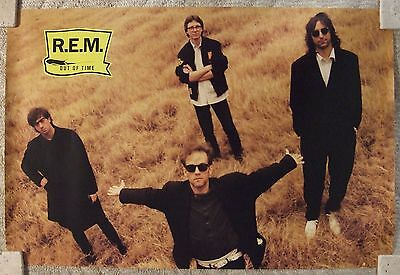 REM - Out Of Time - RARE Vintage Original Poster from 1991/ VG+++ to Excellent