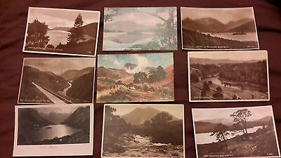 9 x old postcards of Scotland