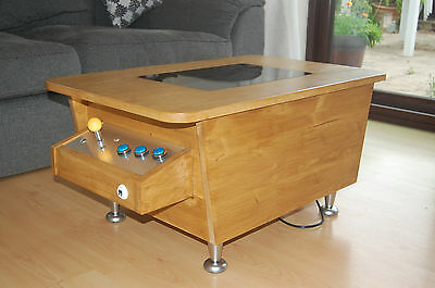 Arcade Coffee Table, 60 Classic Retro Games, Solid Wood