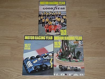 Motor Racing Year Annuals - 1976 / 1977 / 1978 - Paperbacks * Rare *