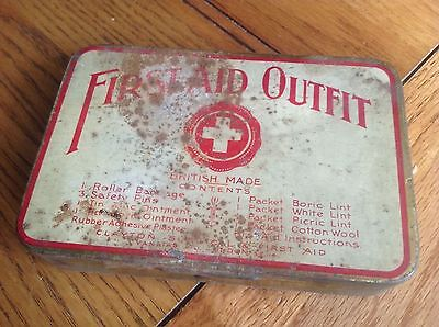 Vintage First Aid Outfit Tin + Some Contents