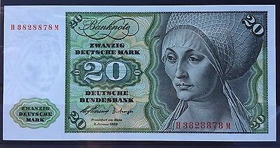 20 Deutsche Mark 1960 Germany UNC MINT Rare From Collection