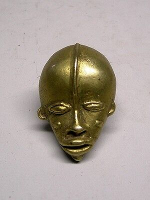 A Fine Brass DAN Pedant MASK from Liberia ~ OLD