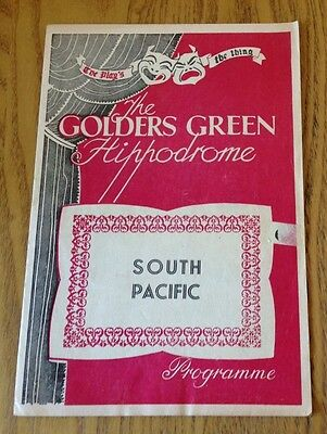 Rare programme South Pacific Feb 1954 Golders Green Hippodrome With Sean Connery