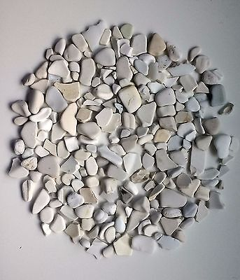 English Sea Glass 200 Pieces of Sea Worn White Pottery Shards Tiny Small Medium