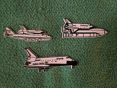 Nasa Space Shuttle Discovery Colombia Challenger Vintage Fridge Magnets Lot