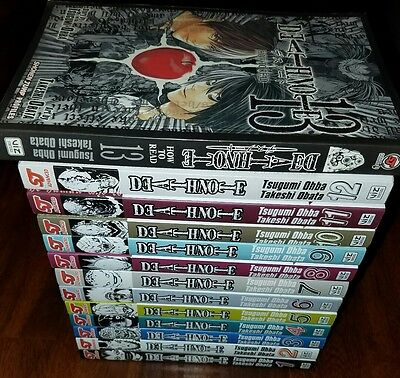 Death Note Complete Set Manga #1-13 in great condition