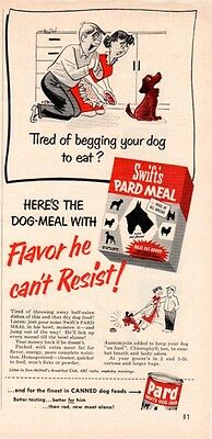 """1953 Swift's Dog Food Ad """"Pard Meal"""""""