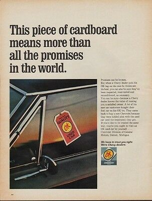 "1967 Chevy Dealers Ad ""All The Promises"""