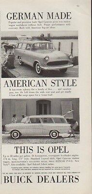 "1959 Buick Ad ""This is Opel"""