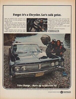 "1967 Chrysler Ad ""Forget it's a Chrysler. Let's talk price."""