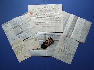 Captain S.g.d. Andrews Royal Navy Reserve Cert Plus Other Docs. 1875 To 1901.