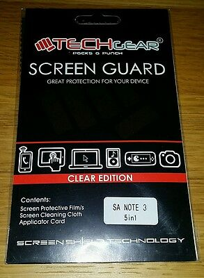 4x Screen Guard Protectors + cloth + applicator card for Note 3 Samsung phones