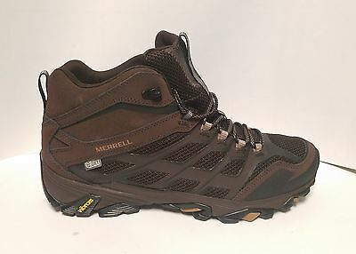 New Merrell Men's Moab FST Waterproof Mid Hikers Shoes Boots Vibram Soles SZ 10