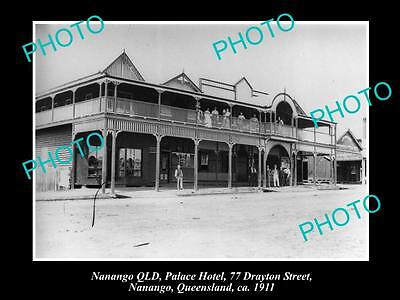 OLD LARGE HISTORIC PHOTO OF NANANGO QLD, VIEW OF THE PALACE HOTEL c1911