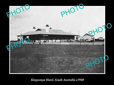 OLD LARGE HISTORICAL PHOTO OF THE KINGOONYA HOTEL, c1940 SOUTH AUSTRALIA