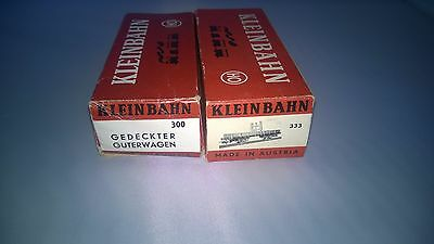 Two Boxes Only For Kleinbahn Gedeckter Guterwagen 300 And Low Sided Wagon 333