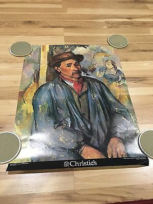 "Vintage Christies Auction House Paul Cézanne 18x24"" Poster Art Print 1980 NYC"