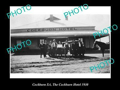 OLD LARGE HISTORICAL PHOTO OF COCKBURN SA, THE COCKBURN HOTEL c1930