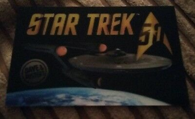 Limited Edition Star Trek 50th Anniversary Lenticular Card Dave & Buster's TOS